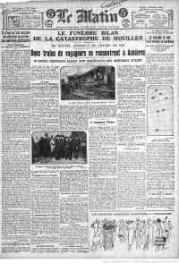 accidentlematin11oct1920. Houilles 78800